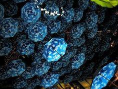 Umbrella Art Installations in Seoul's Insa -dong