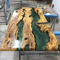 Olive epoxy resin table bench with Olive epoxy consollive edgeepoxy river table custom special furniture river table topValnut woodr Epoxy Table Top, Epoxy Wood Table, Epoxy Resin Table, Wood Tables, Natural Wood Furniture, Resin Furniture, Bancada Epoxy, Hardwood Floor Care, Epoxy Countertop