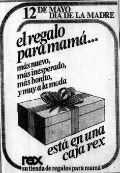 Publicidad del Día de las Madres. Publicado el 12 de mayo de 1974.