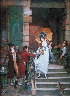"""PierreOutin (1840-1899) """"Would You Do Us the Honor?"""" #classic #art #painting"""