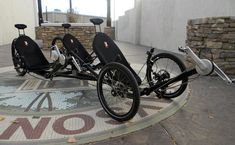 This Kustom KMX allows three people to ride and pedal together, while also offering motor assist.