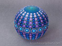 Mandala-Stein Hand bemalt