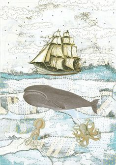 Whale Art. Print.