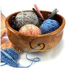Wooden Yarn Bowl, Yarn Projects, Free Crochet, Crochet Patterns, Artisan, Stars, Knitting, Unique, Crafts