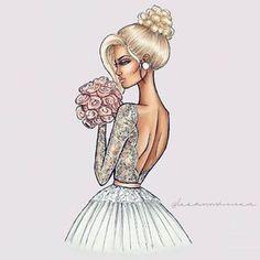 Fashion illustration sketches wedding 44 New ideas Wedding Illustration, Illustration Mode, Fashion Illustration Sketches, Fashion Sketches, Hijab Mode, Wedding Drawing, Magazine Vogue, Dress Sketches, Fashion Design Drawings