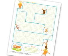Printable Dr. Seuss' The Lorax & Friends Maze. This would be great to entertain kids before the movie - A unique movie night theming idea from Southern Outdoor Cinema.