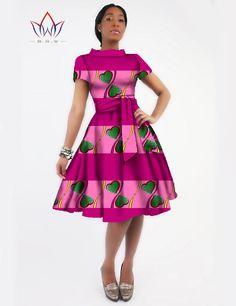 New Women Dress Sashes Jurken Brand Clothing African Print Dress Party Dresses Plus Size Women Clothing Office Dress African Dresses For Women, African Print Dresses, African Attire, African Wear, African Fashion Dresses, Party Dresses For Women, Summer Dresses, African Outfits, African Inspired Fashion