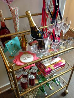 New Year's Eve Bar Cart Styling
