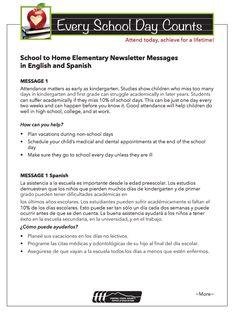 Sample newsletter messages for Attendance Awareness Month!