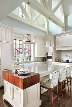 Just the light blue paint and beams   South Shore Decorating Blog: 50 Favorite For Friday (#121)