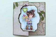Die Cut Swing Card Tutorial - Splitcoaststampers July 17, 2014 tutorial by Norma Lee