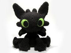 Дракон Беззубик амигуруми. Схема вязания.