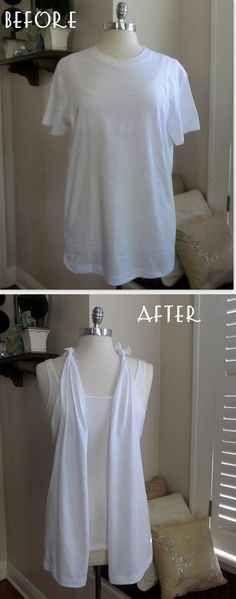 Make your own t-shirt vest.