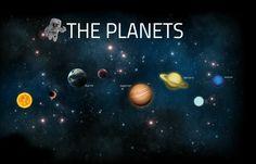 Free reusable Prezi template of solar system
