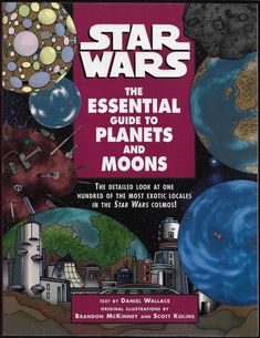 Star Wars The Essential Guide to Planets & Moons SC Daniel Wallace 1998 Del Rey
