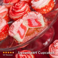 Sweetheart Cupcakes | Kids will love the special surprise inside these cupcakes.