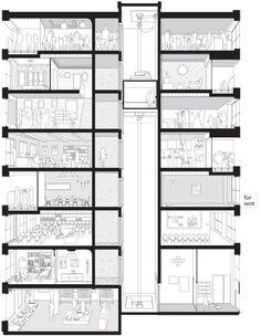 LAN Architecture, Julien Lanoo · 40 housing units Saussure