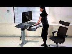 Motorized XO2 EL Standing Desk with Single or Dual Surface Design | Biomorph Adjustable Computer Furniture