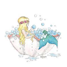 Mermaid Bubble Bath in Shell