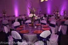 Classy Purple Wedding Decor - Wedding Fuz | Wedding Fuz