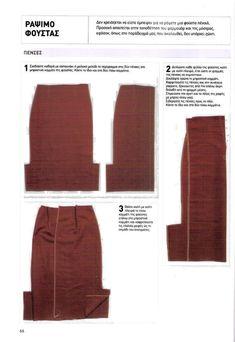 ΠΩΣ ΡΑΒΟΥΜΕ ΦΟΥΣΤΑ - Ραπτική για Όλους Skirt Patterns Sewing, Crochet Crafts, Khaki Pants, Skirts, Fashion, Moda, Khakis, La Mode, Skirt