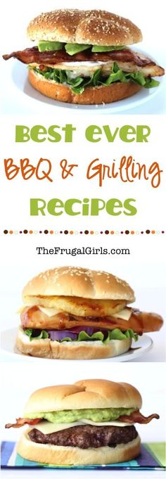 Best BBQ and Grilling Recipes from TheFrugalGirls.com - fire up the grill and grab that Slow Cooker... you'll LOVE these barbecue, burger, and chicken sandwich recipes!