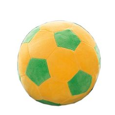 OlgaToys Creative Football Toy For World Cup Football Fans Plush Pillow Yellow 858 *** Want to know more, click on the image.Note:It is affiliate link to Amazon. #tagblender