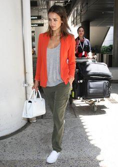 Jessica Alba Photos: Jessica Alba Touches Down at LAX
