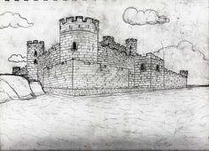 two point perspective castle | And here is what I'm currently working on! Hopefully I'll have some ...