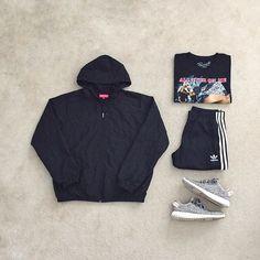 Tomboy Fashion, Streetwear Fashion, High Fashion, Mens Fashion, Fashion Outfits, Street Outfit, Street Wear, Street Clothes, Tupac T Shirt