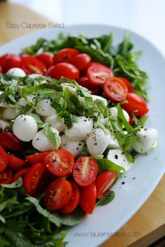 Caprese Salad with Garlic Balsamic Dressing