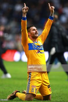 Andre Pierre Gignac of Tigres celebrates after winning the second leg of  the Torneo Apertura 2017 be86ba945