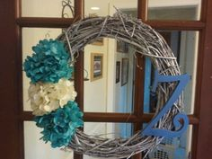 So simple diy door wreath