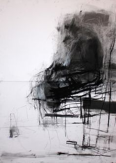 Bunker/ ink, charcoal and graphite on paper / 219x 96cm / 2013 Chamber / ink, charcoal and graphite...
