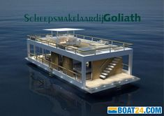 Houseboat The Yacht House 70 buy - Year built: Length: m, Width: m - Information, photos and contact details for this boat. Yacht Design, Boat Design, Used Houseboats For Sale, Luxury Houseboats, Luxury Yachts, Floating Architecture, Sustainable Architecture, Residential Architecture, Contemporary Architecture