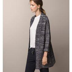 КАРДИГАН СТРУКТУРНЫЙ В СИНИХ ТОНАХ - Essential Knitwear - ЖЕНСКАЯ... (5.595 RUB) via Polyvore featuring massimo dutti