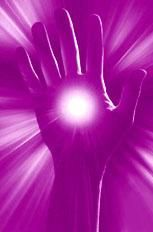 Healing is associated with the colour purple in its various shades.