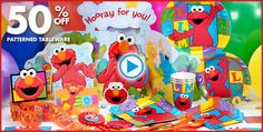 Elmo Birthday party.  I was able to order some stuff from this website for Seth's birthday party!  Love It!!