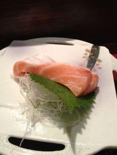 Salmon sashimi. The best japanese food