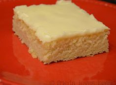 Grammy's White Texas Sheet Cake - for large group