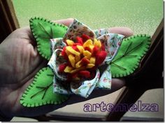 Vire - cloth flower and felt 3