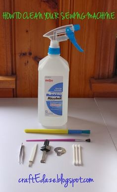 How to clean your sewing machine. LInt free in 5 minutes or less! craftedaze.blogspot.com