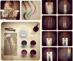 Fashion Blog: All About The Style and outfits: Blue ombre hair tutorial   Beauty