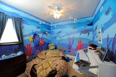 Finding Nemo wallpaper JACK would LOVE this room!
