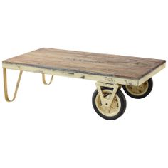 Distressed Cream Quarry Cart - Cigar Room - on Temple & Webster today!