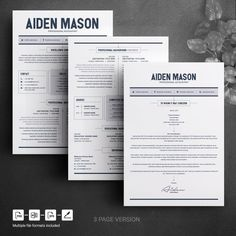 CV Resume Template Word 2 Page Resume Template Modern Modern Resume Template, Resume Template Free, Creative Resume Templates, Free Resume, Templates Free, Resume Summary, Create A Resume, Job Employment, Perfect Resume