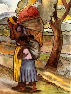 Diego Rivera (1886 – 1957, Mexican) | Recolectora de flores.… | Flickr Diego Rivera Art, Diego Rivera Frida Kahlo, Mexican Artists, Mexican Folk Art, Latino Artists, Art Latino, Frida E Diego, Mexican Paintings, Mexico Art