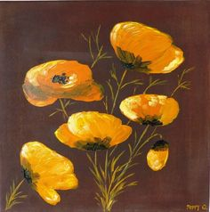 DailyPainting-Leipzig: Poppies in orange - 07.09.2014