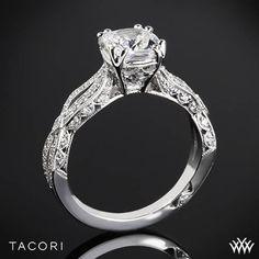 Tacori HT2528 CU 6.5 Ribbon Cushion Twist Diamond Engagement Ring | 3278