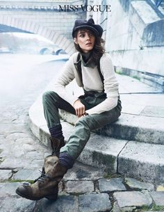 Шпана на набережной (Vogue Paris February 2014)